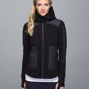 Lululemon Black and Dark Grey Fleecy Keen Jacket